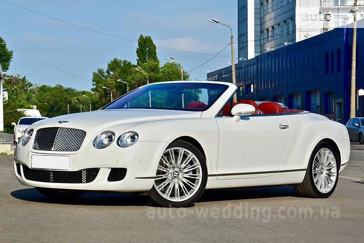Аренда авто Bentley Continental GTC cabriolet на свадьбу